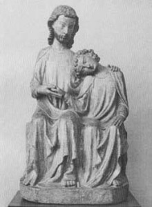Christ and Saint John . German, fourteenth century.
