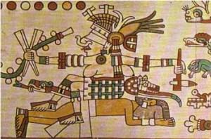 15th C, Aztec Goddess Tlazolteotl as a destructive power, Codex Laud, Oxford