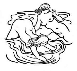 Aristide Maillol, woodcut, illustration for The Odes of Horace, c. 1918