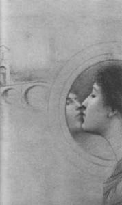 Fernand Khnopff, pastel drawing, 1889