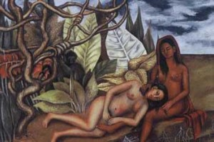 Frida Kahlo, Two Nudes in the Jungle, 1939, oil on metal.