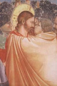 Giotto, The Judas Kiss, detail of fresco, 1305