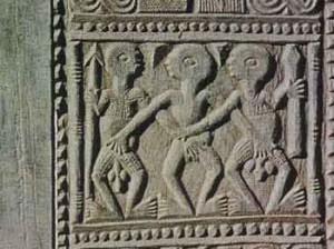 Carved Door, detail, from Modakele, Ife, Africa