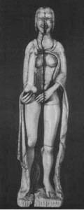 Italy , Ivory Carving of a woman with phallus, reportedly found in a 13th Century nunnery