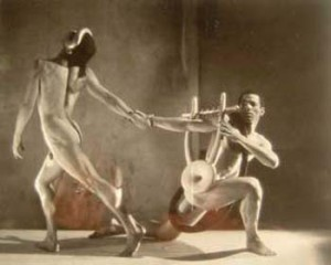 "George Platt Lynes, Nicholas Magallanes and Francisco Moncion in ""Orpheus,"" 1950"