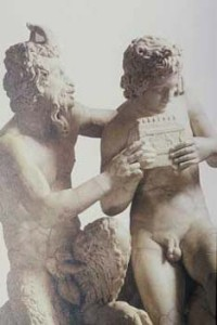 Ancient Rome , 2nd C copy of Greek original, Pan and Daphnis