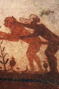 Tomb of the Bulls, fresco – Etruscan, Tarquina, c. 530 BC